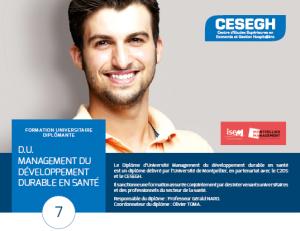 management du développement durable en santé - c2ds